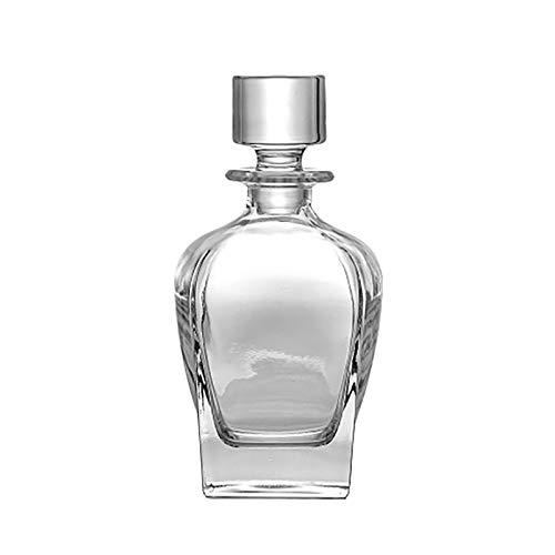 Botellas de Vidrio Vintage para Whisky, decantador de Whisky de Cristal para Licor Scotch Bourbon Bar Barware 24 oz / 700 ml (Size : 700ML/24oz)