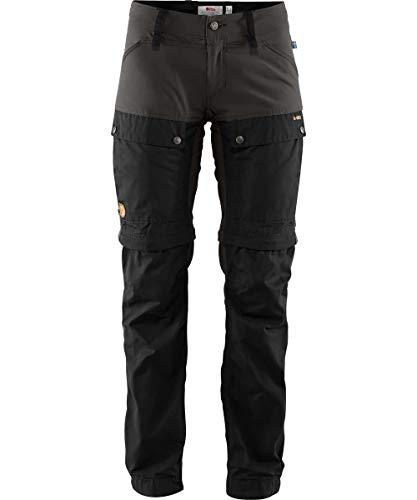 FJALLRAVEN Damen Keb Gaiter Trousers W Hose, Schwarz/Steingrau, 44