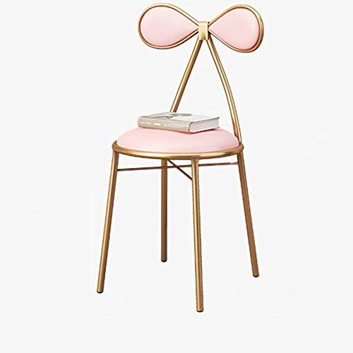 Kraan houlian winkel Mode Bar Stoel Metalen Voet Stoel Modern Goud Backrest Lounge Stoel Duurzame Home Make-up Kruk