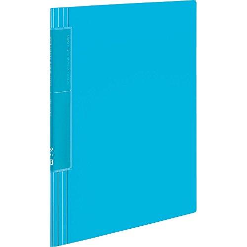 コクヨ ファイル クリヤーブック ノビータ ウェーブカットポケット 20枚 A4 ライトブルー ラ-TN560LB