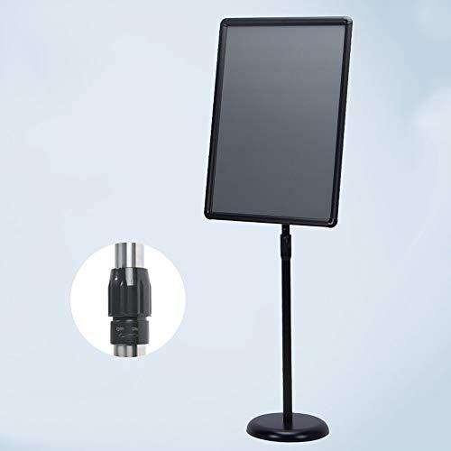 Hinweisschilder Adjustable Plakatständer 16,5 X 23,4 Zoll Aluminium-Verschluss-Open Frame Heavy Duty Sockel Warnschilder Einstellbare Poster Schilderständer aufschnappbarem Aluminiumrahmen mit Runder