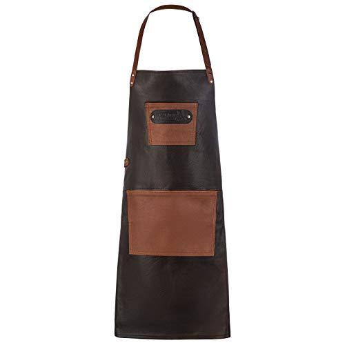 Black Forest Fox Büffelleder Grillschürze BBQ Kochschürze Küchenschürze