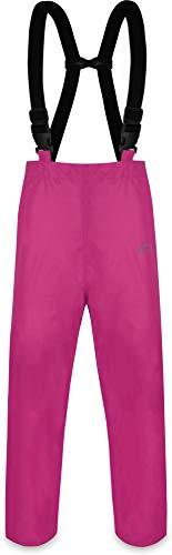 normani Erwachsenen Regenhose ungefüttert mit Hostenträgern, Wind- und wasserdicht sowie atmungsaktiv Farbe Pink Größe S