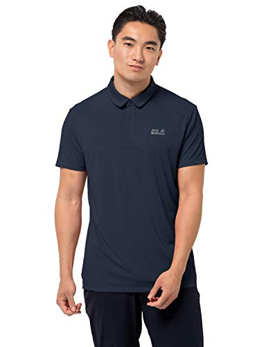 Jack Wolfskin Jwp Polo Homme Polo Homme Night Blue FR : 2XL (Taille Fabricant : XXL)