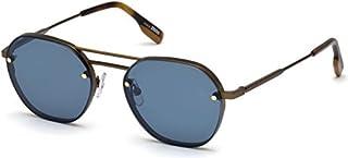 a81c9a1650 anteojos de sol Ermenegildo Zegna EZ® 0105 37X Espejo Bronce oscuro mate/Blu