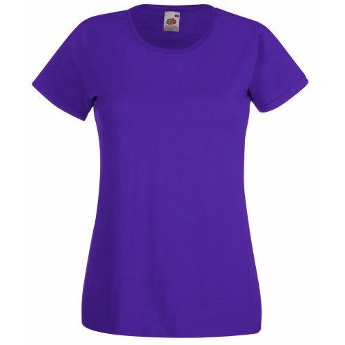 Fruit of the Loom - T-Shirt Johnson, UTBC1354_62, Violett, UTBC1354_62 S