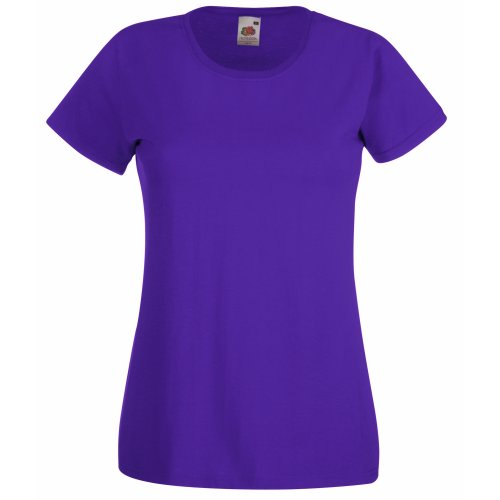 Fruit of the Loom Damen T-Shirt Valueweight T Lady-Fit 61-372-0 Purple L