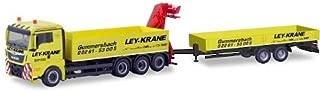 MAN TGX XL Euro 6c, Ley Cranes Gummersbach, 0, Model Car,, Herpa 1:87