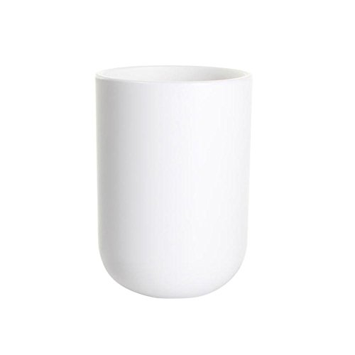 UVIVIU Barthroom Cups, Plastic Toothbrush Holder, Tumbler Cup, 350ml (White)
