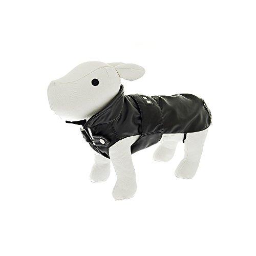 FUSSDOG Abrigo Ryder Negro capotas y Ropa para Perro