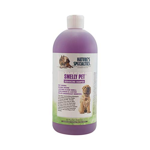 Nature's Specialties Deodorizing Dog Shampoo for Pets, Concentrate 24:1, Made in USA, Smelly Pet, 32oz