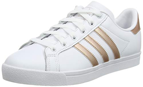 adidas Coast Star W, Scarpe da Ginnastica Donna, Bianco (Ftwr White/Copper Met./Grey One F17 Ftwr White/Copper Met./Grey One F17), 38 2/3 EU