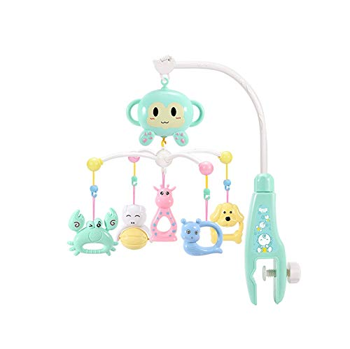 DYXYH Baby Neugeborenes Cartoon-Tier AFFE/Bear/Pferd Musik Bett Rotationsglocken Baby rattert Nacht Glocke hängen Baby-Rasseln Spielzeug