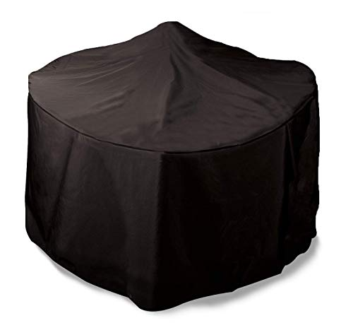 Bosmere Protector 6000 Storm Black Round Fire Pit Cover, Large - Black, D765