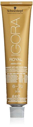 Schwarzkopf IGORA Royal Absolutes Permanent Anti-Age Color Creme 6-70 dunkelblond kupfer natur, 1er Pack (1 x 60 ml)