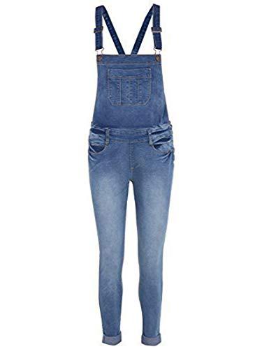 Neuf Salopette Jeans Skinny Femmes Taille 6 8 10 12 14 - Jean Bleu, EU 40