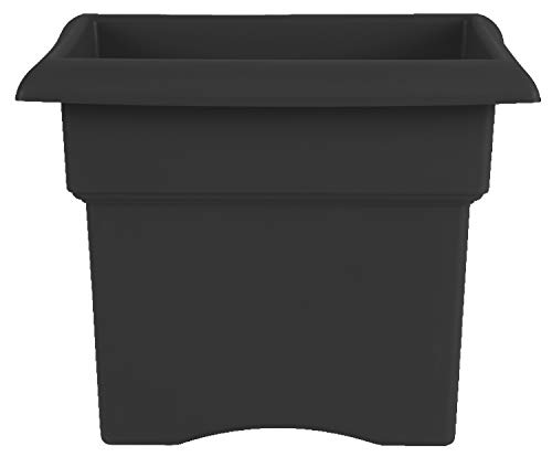 Bloem Fiskars 14 Inch Veranda 3 Gallon Box Planter, Black (57914), 14'