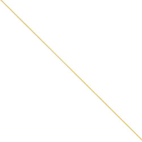 14K Amarillo Oro sólido de 1mm Spiga pulsera de 6pulgadas