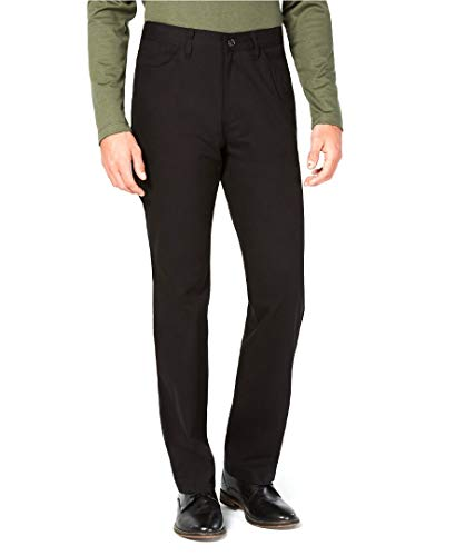Alfani Mens Cotton Regular Fit Casual Pants Black 32/30