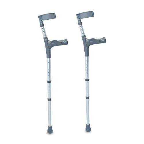 NRS Healthcare comfort grip regolabile stampelle, coppia, regular