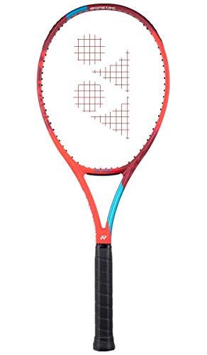 YONEX New Vcore 100 Tango Red - Raqueta de tenis con cordaje 300G, color rojo y azul