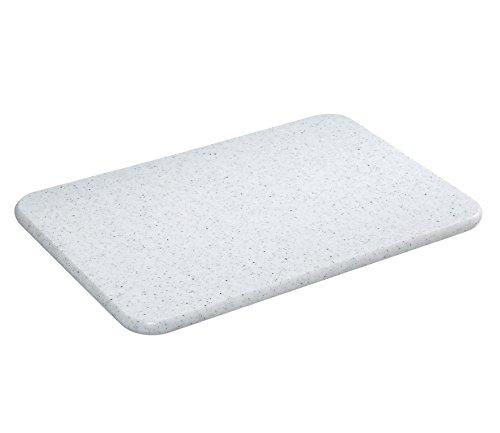 Zassenhaus Tabla de cortar de 36 x 23 cm, granito, plástico, color blanco, 23 x 36 x 2 cm