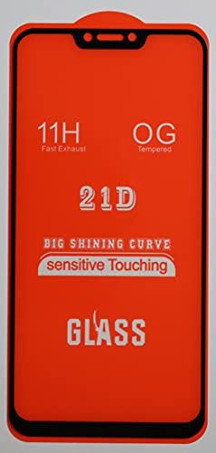 1x Full Cover Schutzglas für ASUS ZenFone 5z ZS620KL in Schwarz Glasfolie 9H 5D 6D 9D Bildschirmschutzfolie Glass Premium Tempered Glass Protection (kein 3D Glas)
