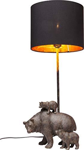 Kare Design Tischleuchte Bear Family, Bärenfamilie als Tischlampe, lustige Tier Tischlampe mit schwarzem Lampenschirm, (H/B/T) 60x23x24cm
