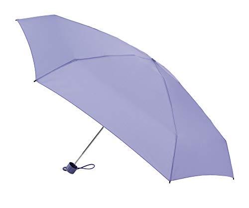 Paraguas Vogue micromini. Sólo Pesa 180 Gramos. Medida Cerrado 17 cm. Funda Estilo Anorak. Protección Solar +50, antiviento y Acabado Teflón (Malva)