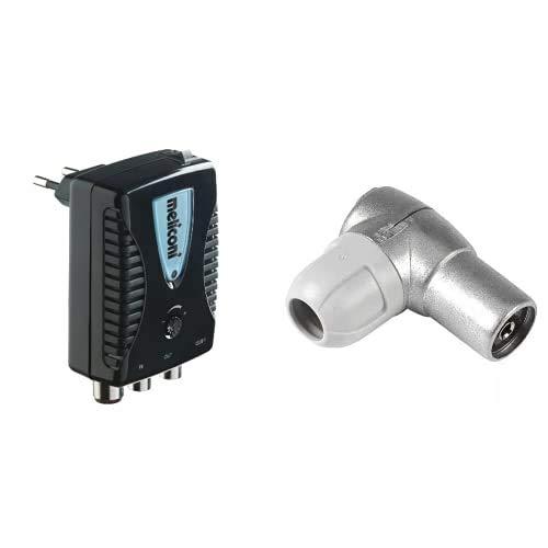 Meliconi 880100 AMP-20 Amplificador de Antena, hasta 20 dB + Televés F4312400 Conector Hembra diámetro 9,5mm