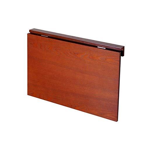 AI LI WEI Living Office/Eenvoudige Opslag Tafel Wandmontage Laptop Stand Opvouwbare Wandtafel Leren Bureau Keuken Aanrechtblad Bespaar Ruimte, Effen Hout 3 Kleuren (Kleur : Honing Kleur, Maat : 60x40x32CM)