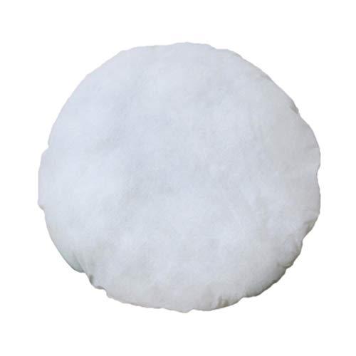 IMIKEYA 2pcs Round Stuffer Pillow Floor Insert Cute Pillow Inner Form Cushion Floor Inserts for Home Car (White 21.6x21.6 inch, 500g)