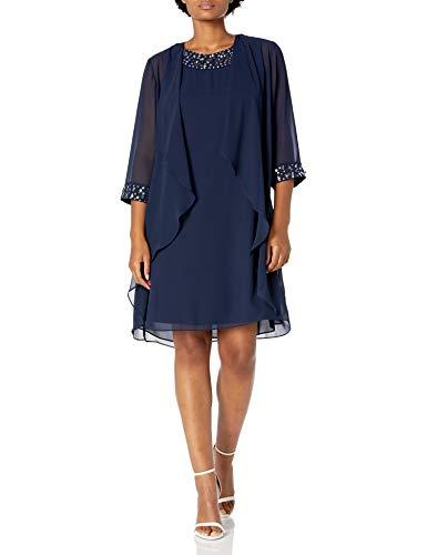 S.L. Fashions Women's Chiffon Tier …