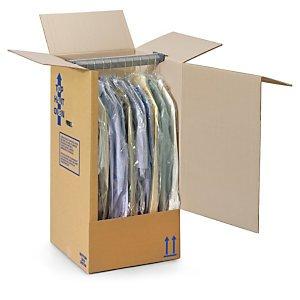 1 Verpackungseinheit (5 Stück) Kleiderboxen<br/>Innenmaße: L 500 mm x B 300 mm x H 1350 mm<br/>geeignet für Hosen thumbnail