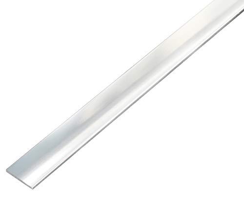 GAH-Alberts 488345 Flachstange | selbstklebend | Aluminium, chromdesign | 1000 x 25 x 2 mm