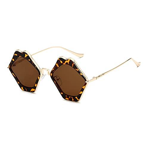 QiKun-Home Moda Práctica Vintage Diseño Espejo Llano Cristal Reflectante Gafas Lente Plana Elección Perfecta Para Actividades Al Aire Libre Impresión Leopardo Y Té