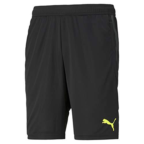 PUMA Individualcup Shorts Pantalones Cortos, Hombre, Black-Yellow Alert, XL