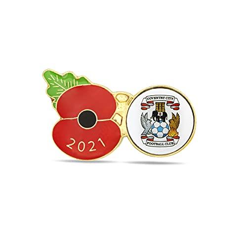 Coventry City Poppy Football Pin 2021