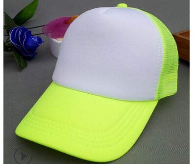 Poliéster Hombres Mujeres Gorra de béisbol Malla Snapback Imprimir Logo Sombrero de Camionero-Fruit green-54-58(Adult)