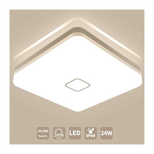 Led Deckenleuchte Bad Öuesen Badezimmer Lampe IP44 Wasserfest Led Lampe 24W Led Deckenlampe für Wohnzimmer Bad Flur Küche Schlafzimmer Büro Balkon,Neutralweiß,4000K,2050LM,Ø32cm