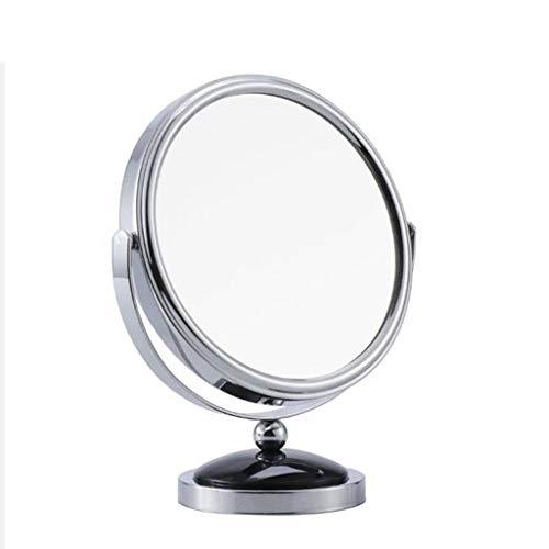 Ownlife Miroir de Table Double Face Maquillage Miroir grossissant avec 360 degrés de Rotation