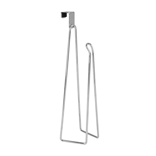 Spectrum Diversified Vertical Cabinet Door Paper Dispenser, Fits Regular & Jumbo Rolls, Towel Holder, Sturdy Steel Kitchen Decor, Chrome