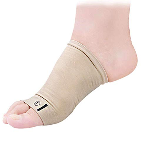 Mars Wellness Metatarsal Compression Arch Support Sleeve - Cushioned Gel Foot Sleeves - Flat Feet, Plantar Fasciitis, Foot Pain Relief, Heel Spurs - One Size Fits All - 1 Pair