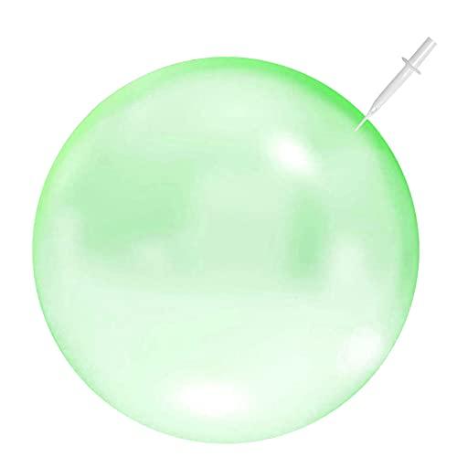 Wasserball Bubble, Bubble Ball Spielzeug, Weichgummiball, Bubble Ball Wassergefüllter Interaktiver,Bubble Balloon,Bubble Ball Aufblasbar für Sommer Strand,Bubble Ball Reißfest (Grün, Small)