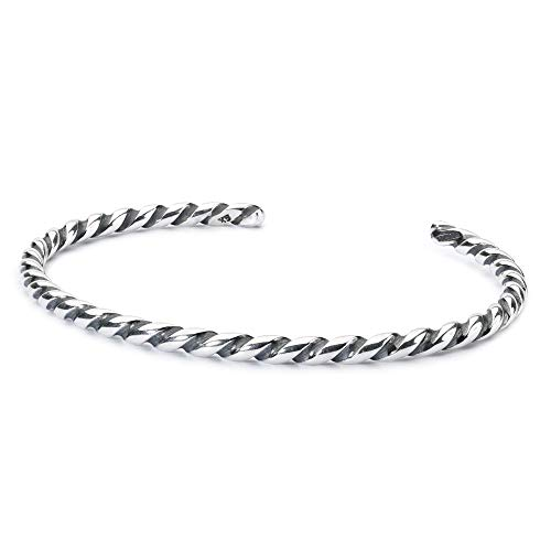 Trollbeads Bangle Gedrehte Armspange Silber - L