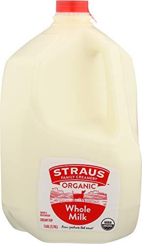 Straus Family Creamery, Milk Whole Organic, 128 Fl Oz