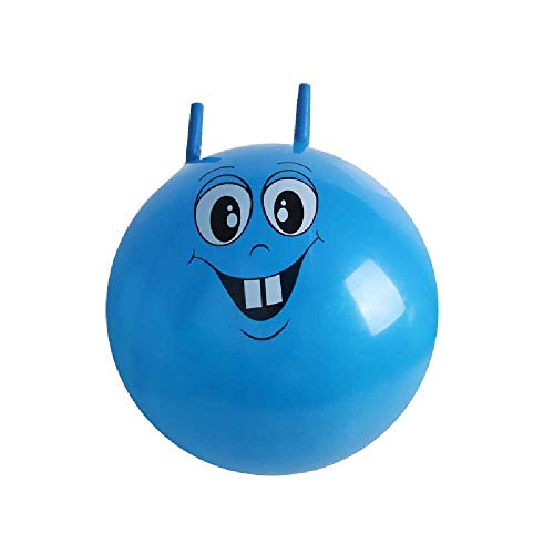 nobrands Pelota saltadora de 45 cm con asas, accesorio de fiesta, adecuada para niños de 3 a 6 años, balón espacial para niños al aire libre/indio azul
