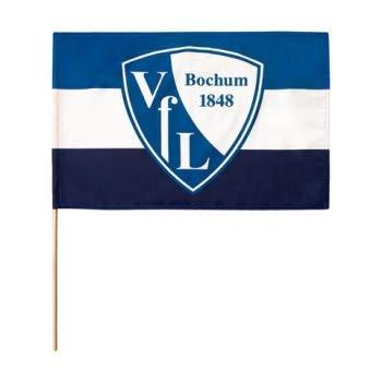 Flaggenfritze Stockflagge VFL Bochum 1848-60 x 90 cm + gratis Aufkleber