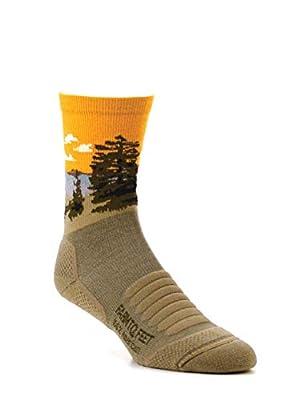 FARM TO FEET Desert Tan Cascade Locks Crew Socks, Large