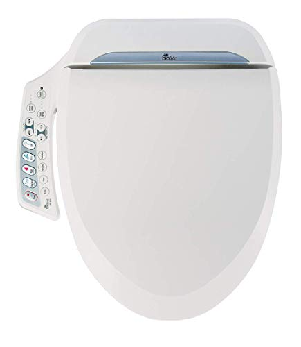 Bio Bidet Ultimate BB-600 Advanced Bidet Toilet Seat, Round White. Easy DIY Installation, Luxury Features From Side Panel, Adjustable Heated Seat and Water. Dual Nozzle Has Posterior and Feminine Wash